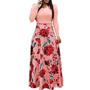 Multitrust Vintage Women Boho Long Maxi Evening Party Dress Summer Beach Sundress Plus Size