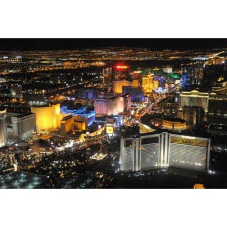 (27x40) Las Vegas Poster The Strip At Night Art decor incl. mail/storage tube. ()