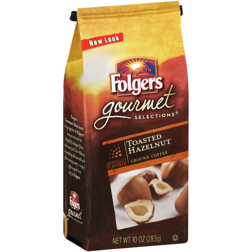 Folgers Gourmet Selections Toasted Hazelnut Ground Coffee, 10 oz