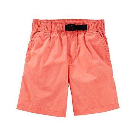 OshKosh B'gosh Big Boys' Pull-On Poplin Shorts, Orange, 10 Kids