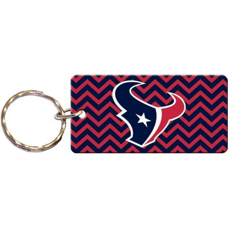 Houston Texans Chevron Printed Acrylic Team Color Logo Keychain - No Size