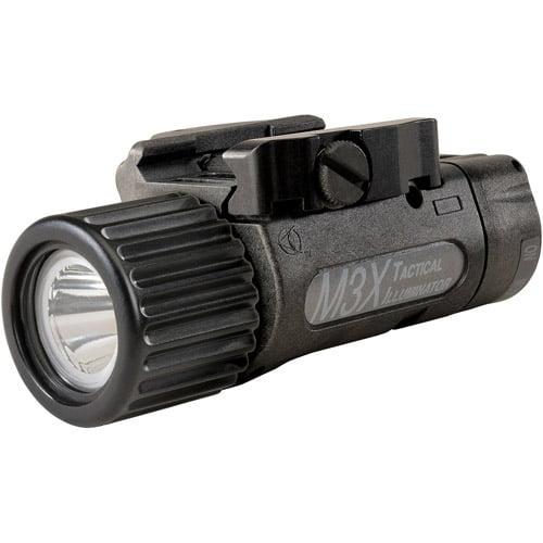 EOTech M3X Tactical Illuminator Weapon LED Light, Black, Rail-Grabber Mount, Lon