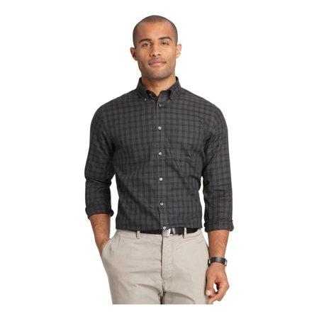 Van heusen mens no iron windowpane button up dress shirt for Men s no iron dress shirts
