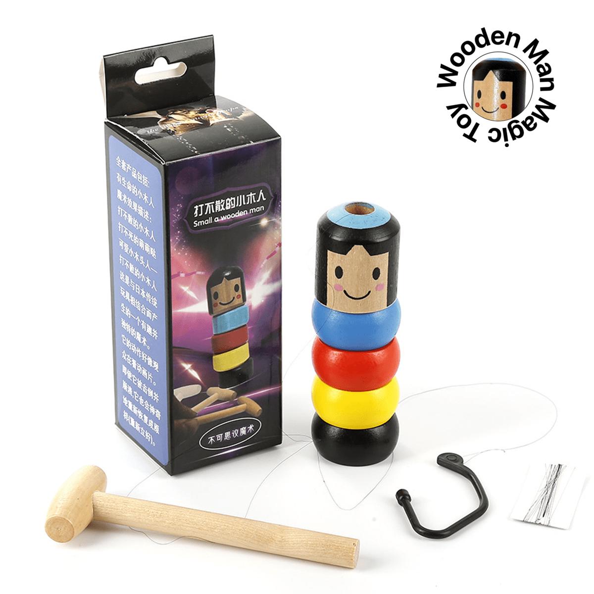 Unbreakable Small Wooden Man Immortal Daruma Stubborn Wood Magic Toy Kids Gifts