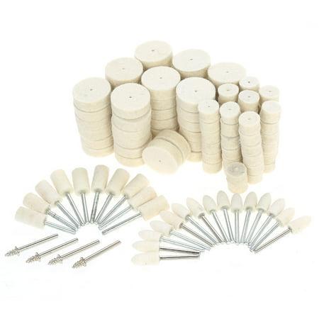 129pcs Abrasive Polishing Wheel Polishing Tools Wool Felt Metal Surface Buffing Accessories for Dremel Rotary Tool
