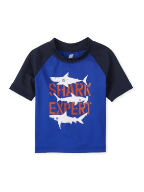 The Children's Place Baby Toddler Boy Shark Swim Rashguard