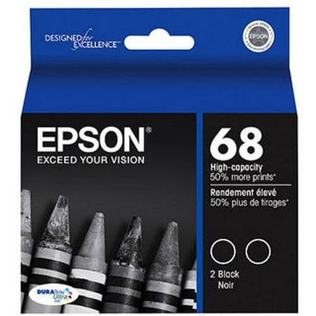 Epson DuraBrite Ultra T068120 High-Capacity Black Inkjet Print Cartridge