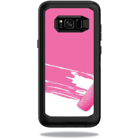 MightySkins Protective Vinyl Skin Decal for OtterBox Defender Samsung Galaxy S8+ Case sticker wrap cover sticker skins Pink Paint Roller