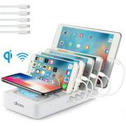 5-Port Multi USB Charging Station Stand Desktop Charger Dock For Cellphone Smartphone Tablet