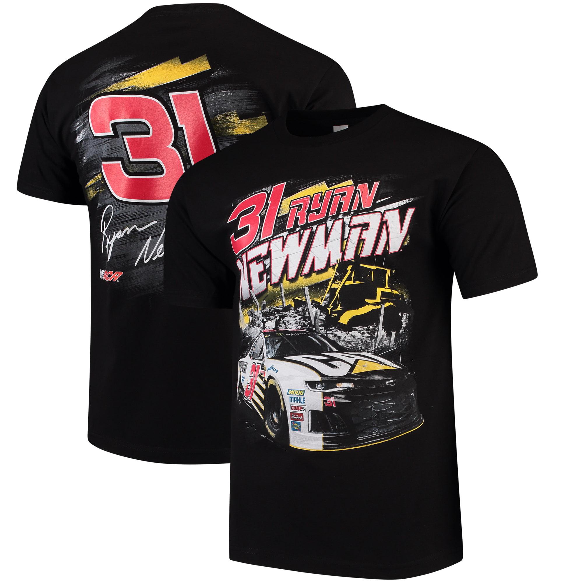 Men's Checkered Flag Black Ryan Newman Torque T-Shirt