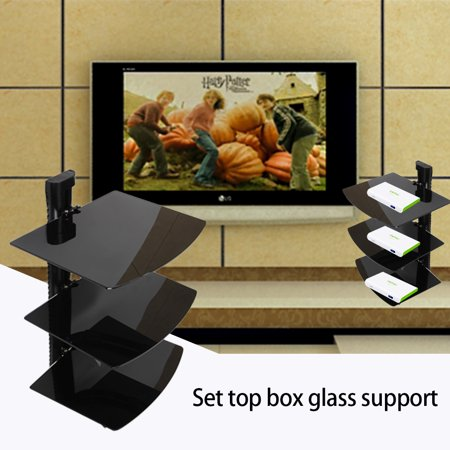 3 Shelf Dvd Player Single Layer Home Living Room Wall Mount Tv Box Holder Stand