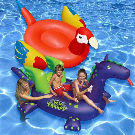 Swimline Ride-On Floats, Parrot and Sea Dragon (Floating Dragon)