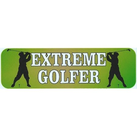 10In X 3In Extreme Golfer Bumper Magnets Magnetic   Magnet Golf Balls