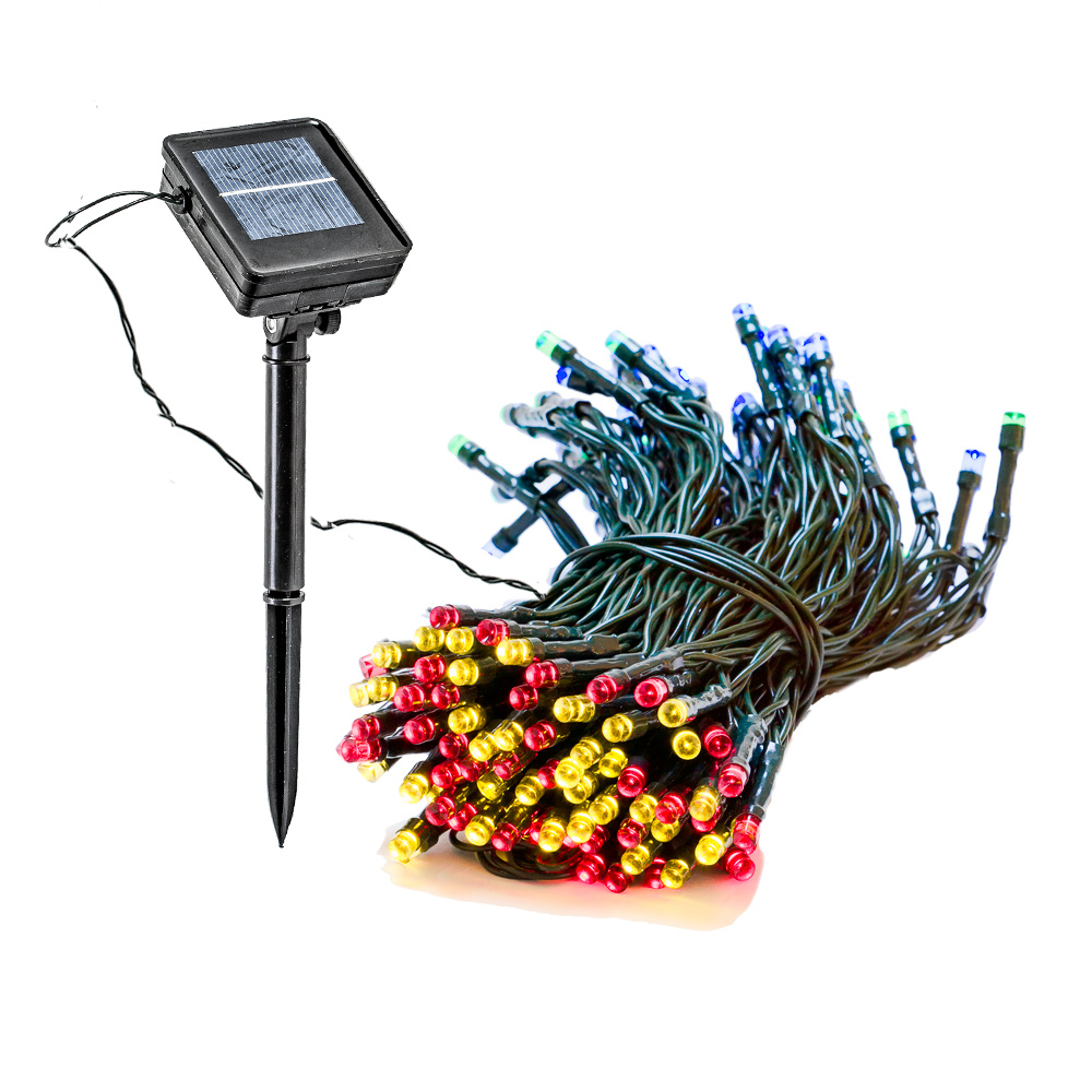 4 Pack 55 Foot Solar Outdoor Christmas Holiday String Lights with 150 RGB LED by Reusable Revolution