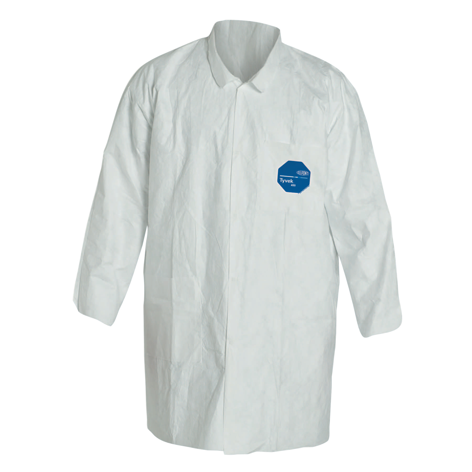 DuPont Tyvek Lab Coats Two Pockets, X-Large, Tyvek