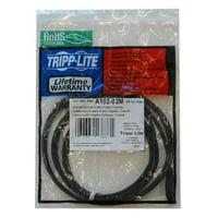 Tripp Lite Toslink Digital Optical SPDIF Audio Cable, 2M (6-ft.) (A102-02M)