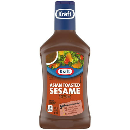 (3 Pack) Kraft Asian Sesame Dressing, 16 Fl Oz (Best Asian Salad Dressing)
