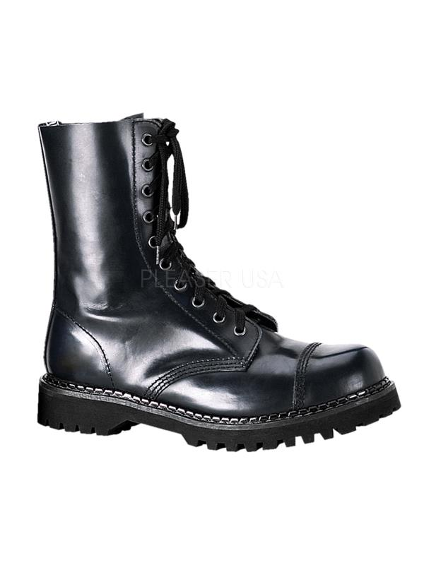 ROC10/B/LE Demonia Leather Shoes & Boots BLACK Size: 5
