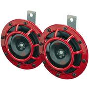Hella Supertone Horn Kit 12V 300/500HZ Red (003399803 = 003399801)
