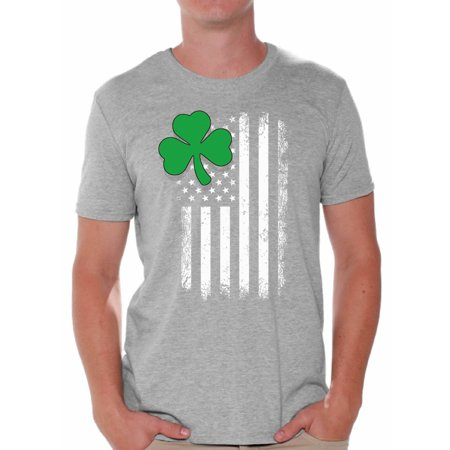 Awkward Styles Irish American Shirt St. Patrick's Day T-Shirts for Men Shamrock Green Irish American Clover Gifts for Him St. Paddy's Day Tshirt Proud To Be Irish American Irish Party Tshirts - St Patricks Day Clothing