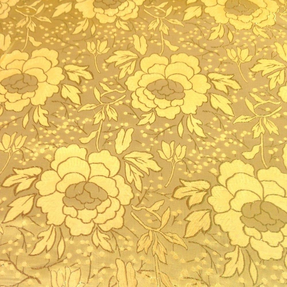 "Metallic Carnation Floral Brocade Fabric 60"" Sold By the Yard in Many Colors (Silver / Silver)"