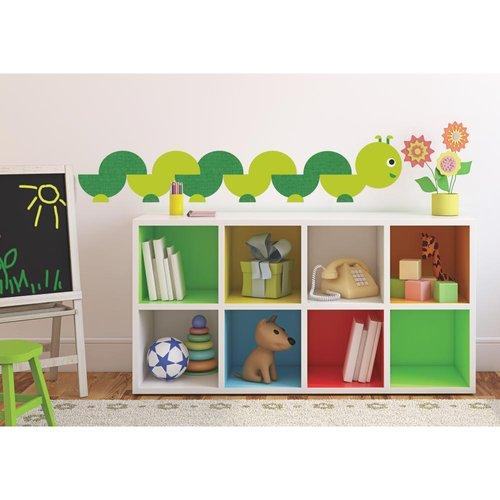 Book Worm Wall Accent Insect Self Stick Decal