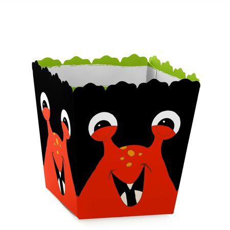 Monster Bash - Party Mini Favor Boxes - Little Monster Baby Shower or Birthday Party Treat Candy Boxes - Set of