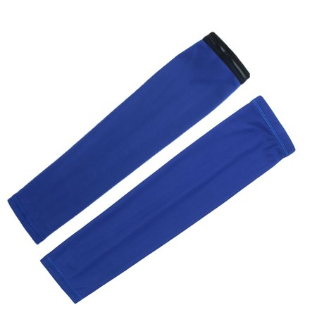Cycling Sports Sun Protection Cover Arm Sleeves Royal Blue 2XL Pair (Cycling Sun Sleeves)