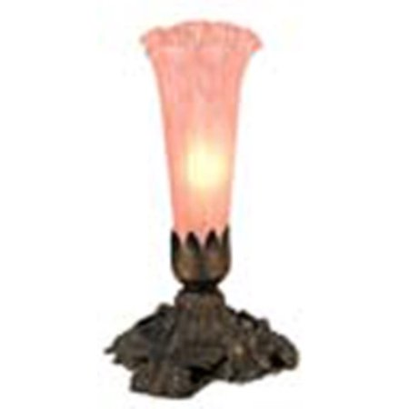 Meyda Tiffany 11241 Stained Glass / Tiffany Accent Table Lamp from the Lilies Collection