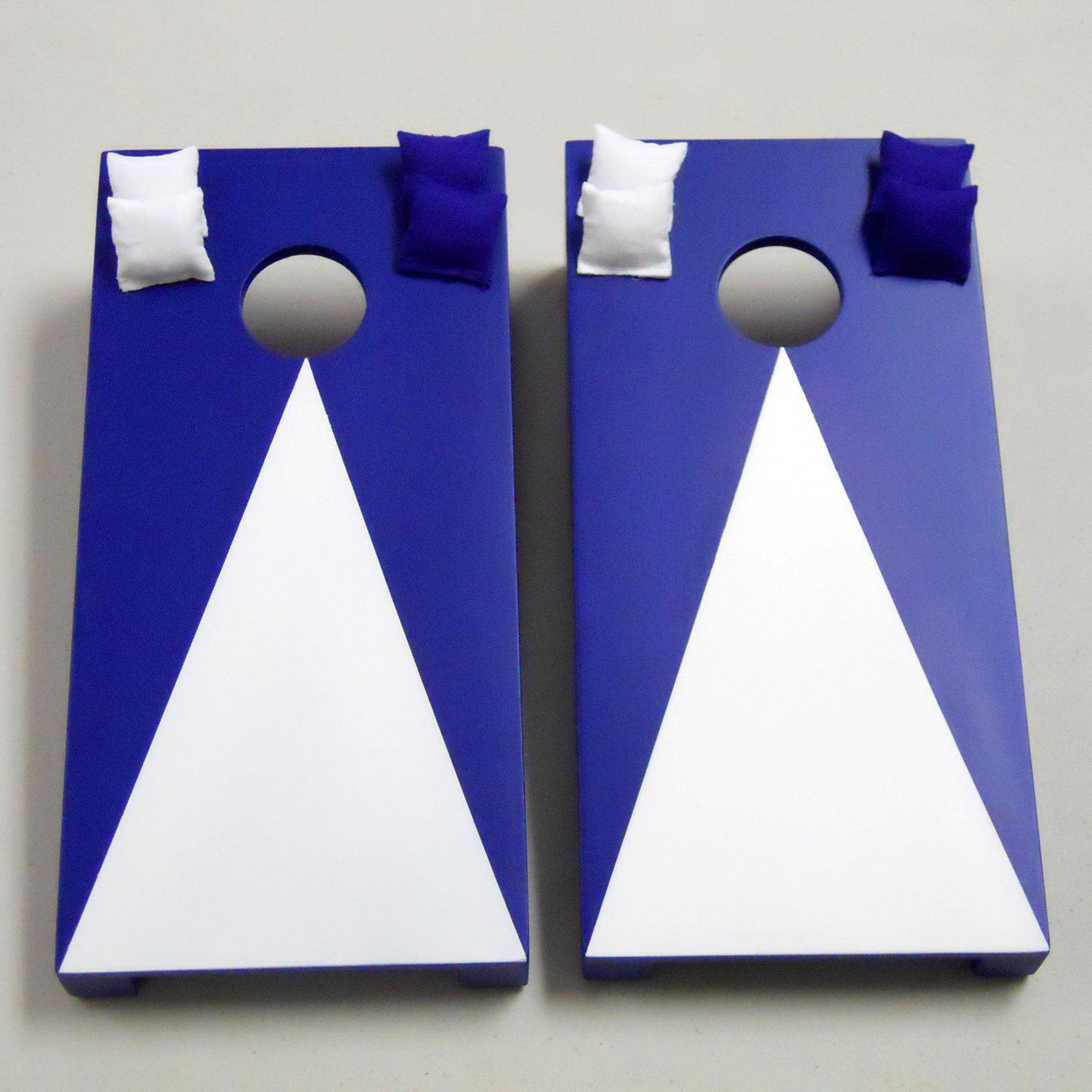 Navy Blue Pyramid Tabletop Cornhole Set by AJJ Cornhole