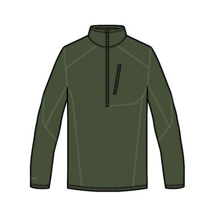 Under Armour 1262441 Men's OD Green ColdGear Infrared 1/4 Zip Shirt - Size