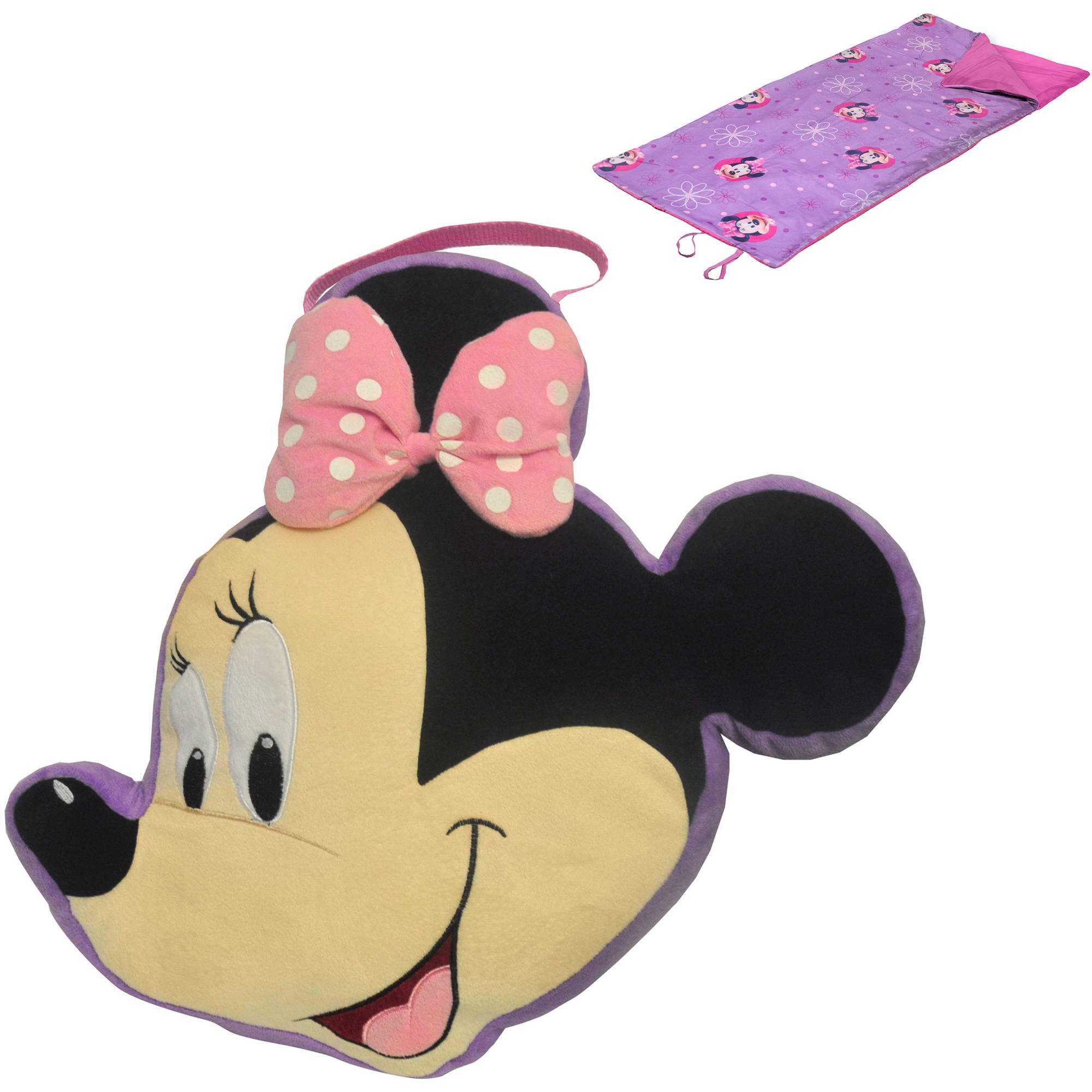 Disney Minnie Mouse On-The-Go Pillow and Sleeping Bag Set