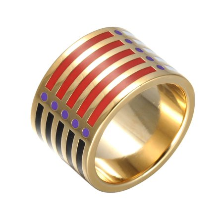 Red Transparent Ring (Lowest Price Ever!!! Fashionvare Women's Gold Plated Handmade Enamel Ring Size)