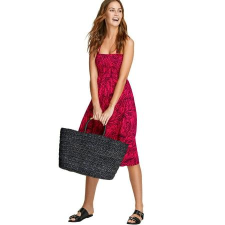 b805dceafc01a Ellos - Plus Size Smocked Halter Tie Dress - Walmart.com