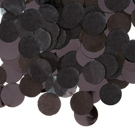 Black Tissue Paper Confetti Tube: .625 inches, .9 oz](Confetti Tissue Paper)