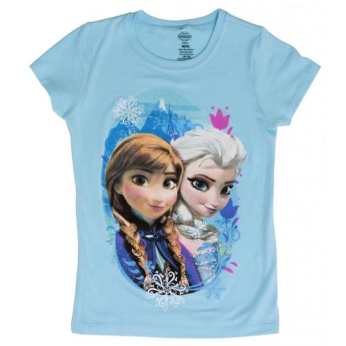 Juniors Frozen Sisters Turquoise Short-Sleeve T-Shirt - 4