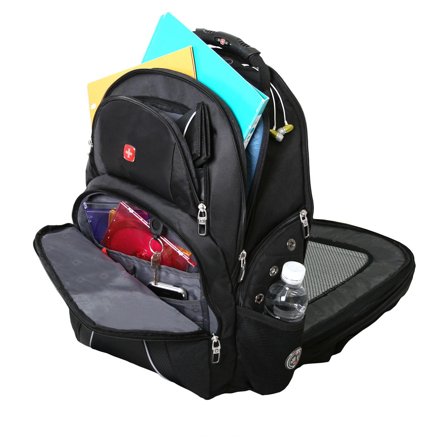 SwissGear ScanSmart Laptop Backpack - Black - Walmart.com