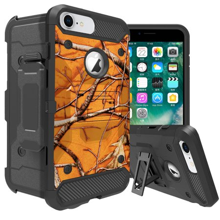 Cell Guard Advanced Antioxidant (Heavy-Duty MAX GUARD iPhone 6s Phone Case by MINITURTLE[Compatible w/ iPhone 6] High-Impact Advanced Silicone Layers w/ Kickstand + Holster for iPhone 6s - Orange Branch Camo)
