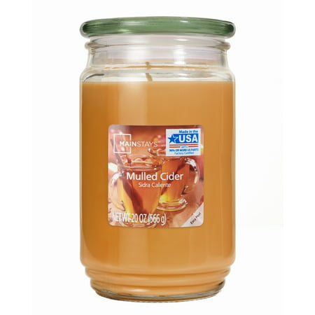 Mainstays 20oz Candle, Mulled Cider (Industrial Candle)