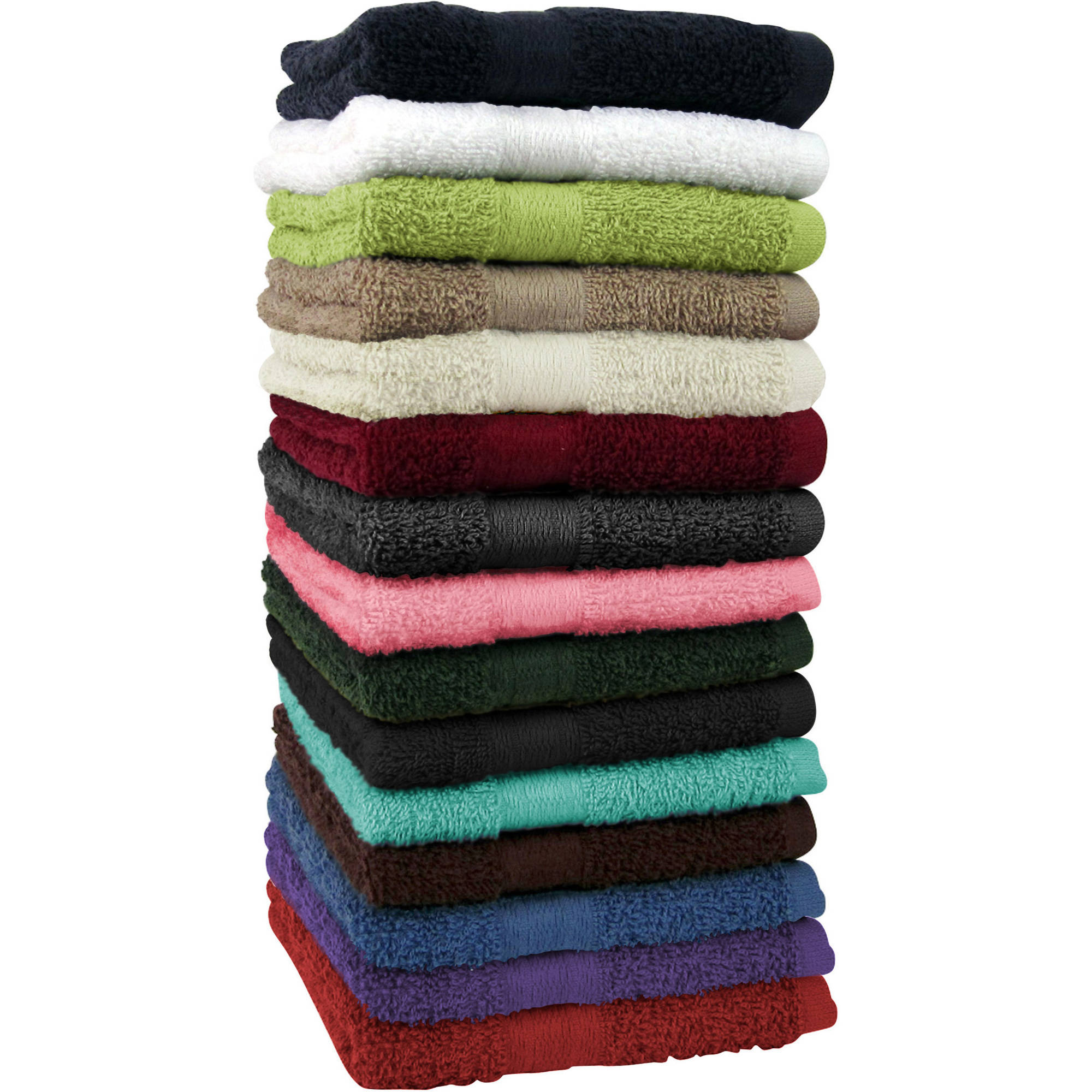Mainstays Basic Bath Towel Collection Walmartcom
