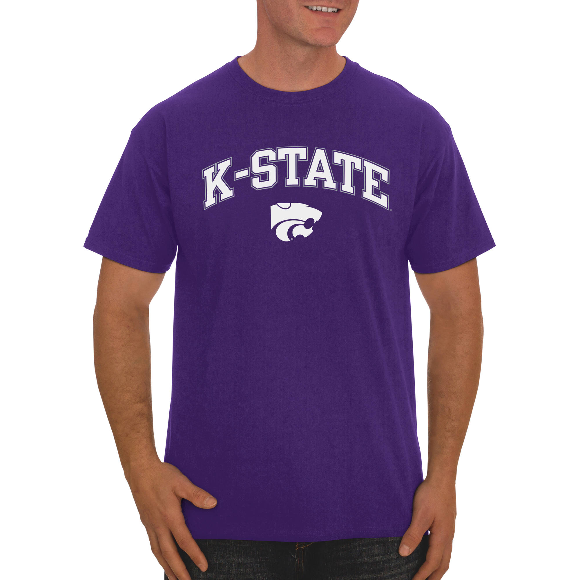Russell NCAA Kansas State Wildcats Big Men's Classic Cotton T-Shirt