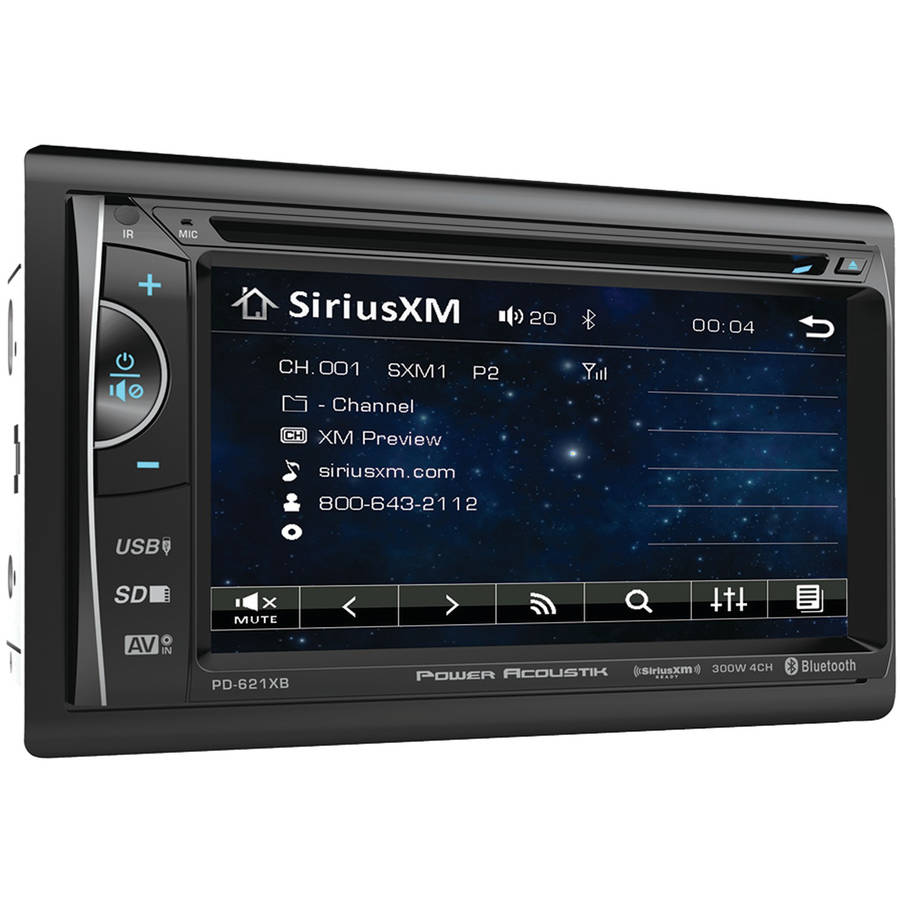 "Power Acoustik PD-621XB 6.2"" Incite Double-DIN In-Dash LCD Touchscreen DVD Receiver with Bluetooth and SiriusXM Ready"