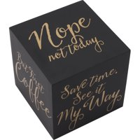 Table Expression Cube, Black/Gold