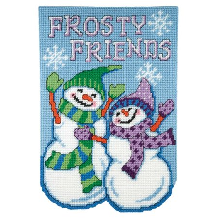 Craftways January Banner-Frosty Friends Plastic Canvas Kit