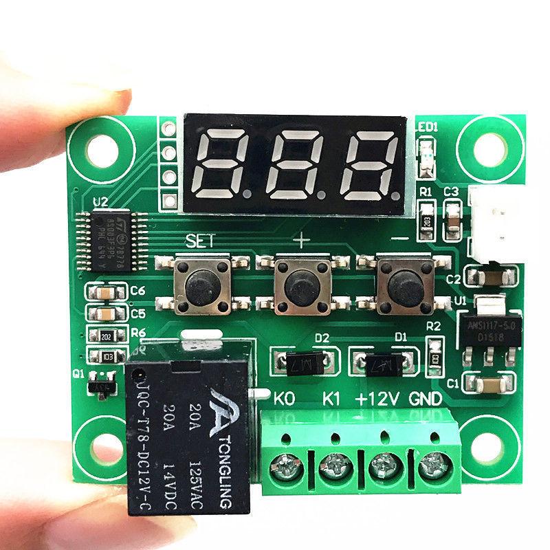 50-110°C W1209 Digital Red LED thermostat Temperature Control Switch 12V Sensor