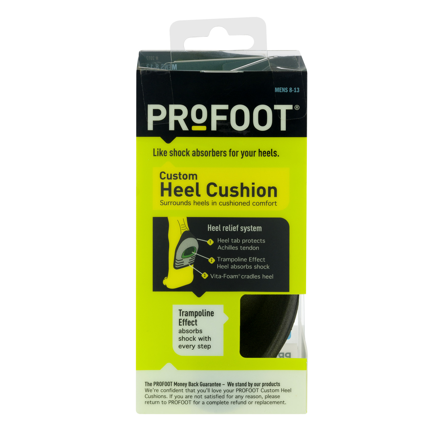ProFoot Custom Heel Cushion Mens 8-13, 1.0 CT