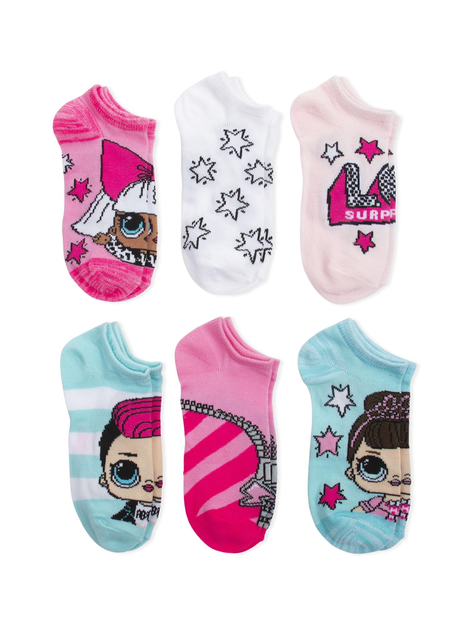LOL Surprise Girls 5 Pack No Show Socks