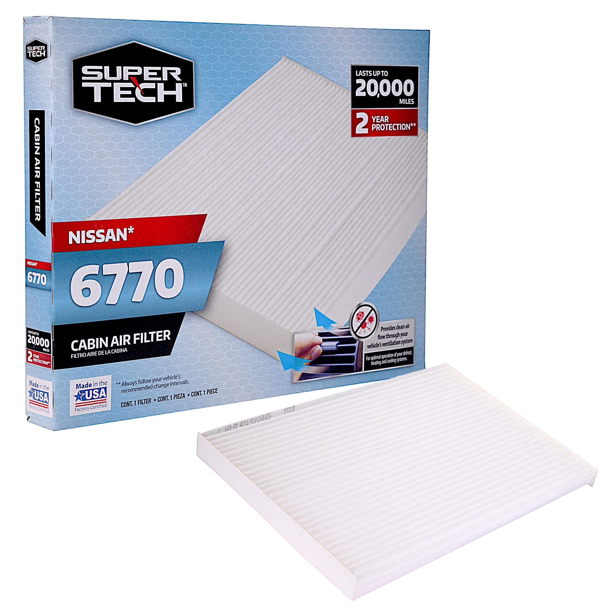 Supertech Cabin Air Filter 6770 Replacement Air Dust Filter For Nissan Walmart Com