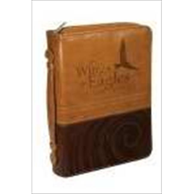 Christian Art Gifts 367118 Bible Cover Isaiah 40 Large Brown Tan Two Tone Luxleather