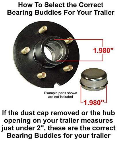 "Bearing Buddy 1938SS 42304 Bearing Buddy Stain Steel for 0.1838/"" Trailer Hub MD"